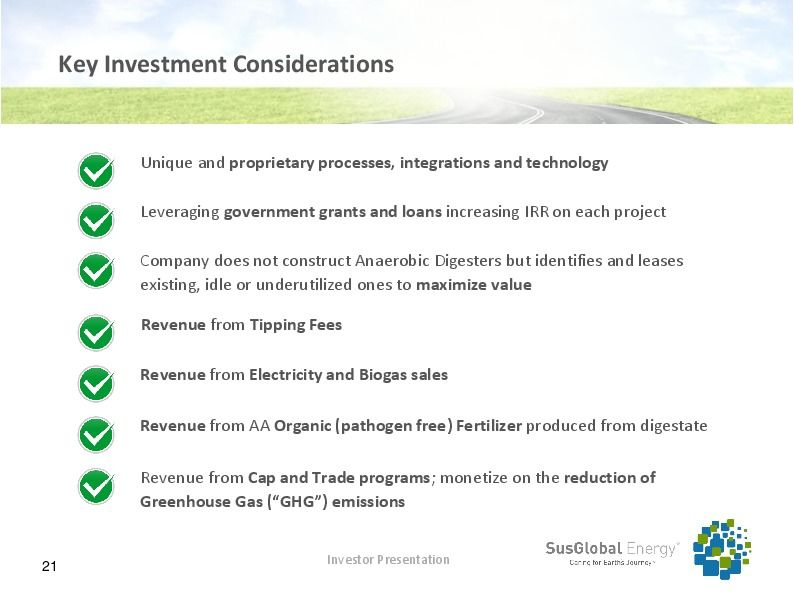 Investor presentation   susglobal energy corp october 2017 page 20
