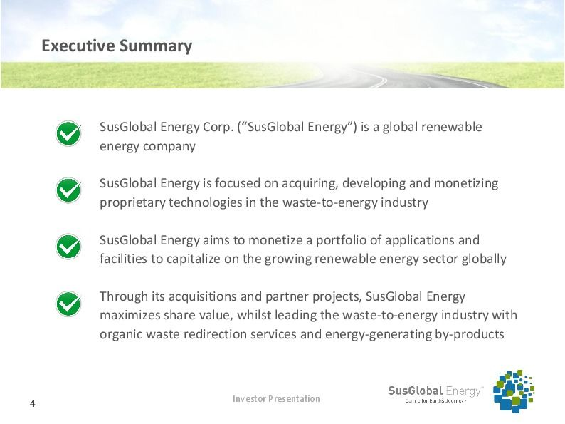 Investor presentation   susglobal energy corp october 2017 page 3