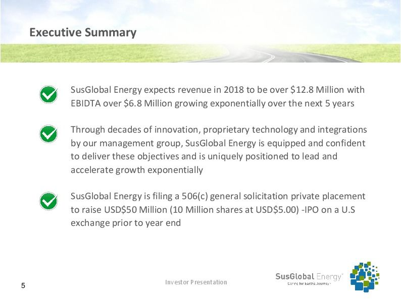 Investor presentation   susglobal energy corp october 2017 page 4