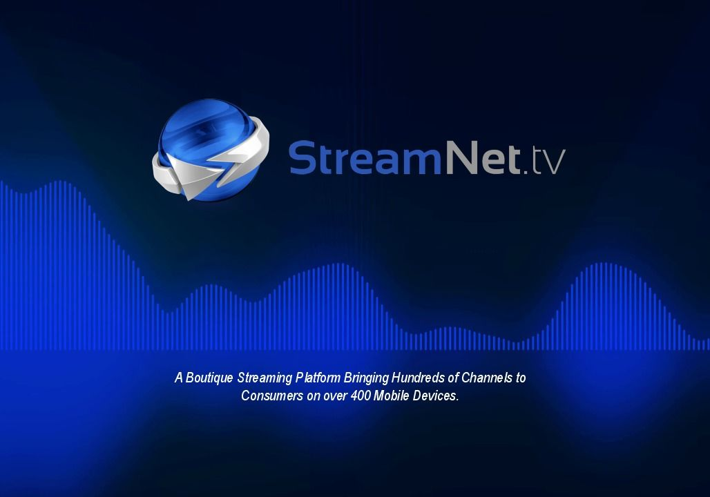Streamnetpitchdeck page 0