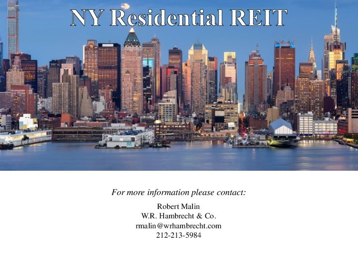 Ny residential reit road show presentation.12.17 page 14