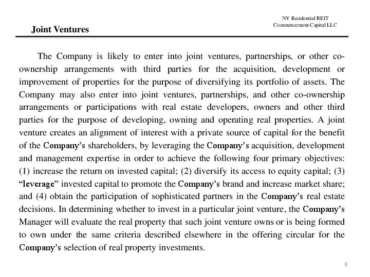 Ny residential reit road show presentation.12.17 page 7